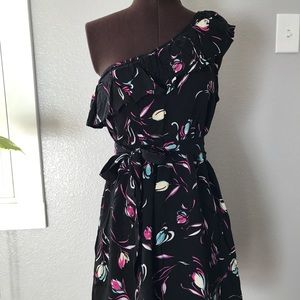 Mink Pink dress. One shoulder. Size medium